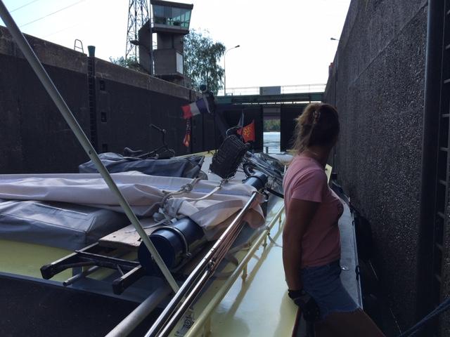 20200711 01 Leaving the Canal du Rhone au Rhine via the Kembs-Niffer Lock