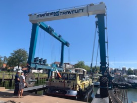 20200821 02 relaunch at de Haas boatyard
